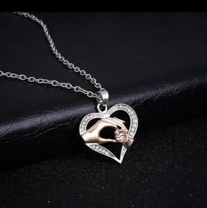 Jewelry - Mother/Mom/Child/Baby/Son/Daughter Heart Necklace